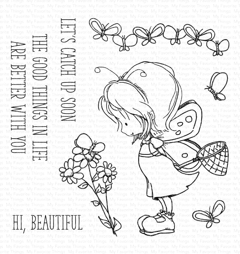 My Favorite Things FLUTTERBY FRIENDS Clear Stamps ti003 zoom image