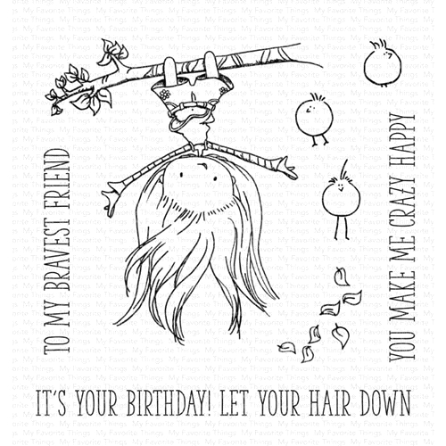 My Favorite Things LET YOUR HAIR DOWN Clear Stamps ti002 Preview Image