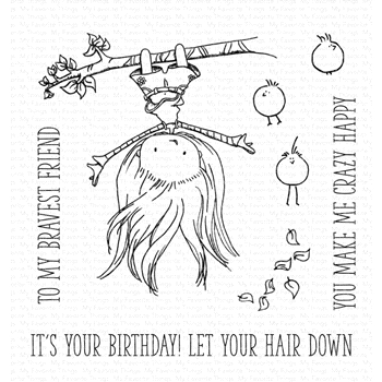 My Favorite Things LET YOUR HAIR DOWN Clear Stamps ti002