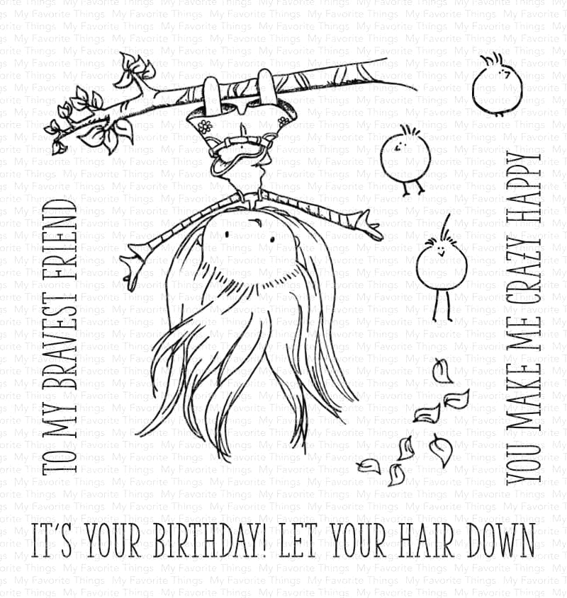My Favorite Things LET YOUR HAIR DOWN Clear Stamps ti002 zoom image