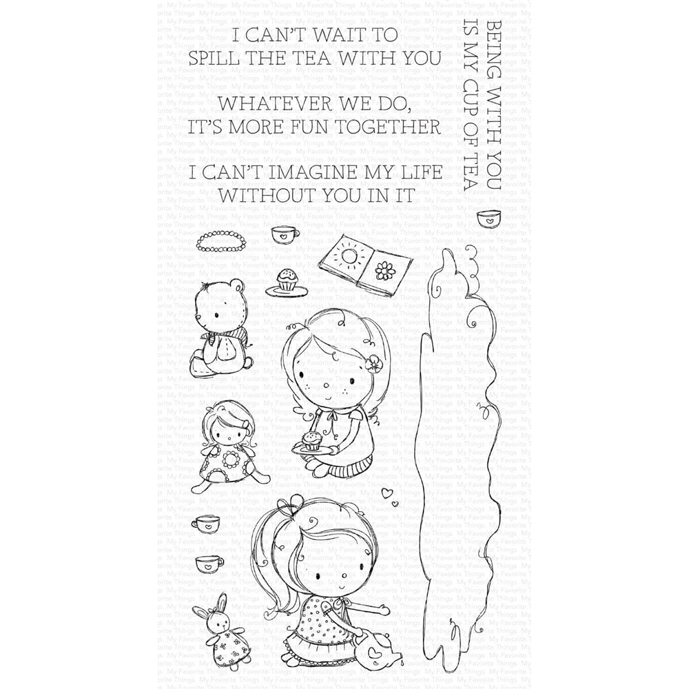 My Favorite Things SPILL THE TEA Clear Stamps ram015 zoom image