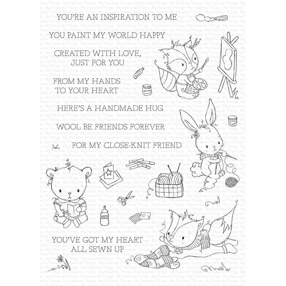 My Favorite Things CRAFTY COMPANIONS Clear Stamps ram017 zoom image
