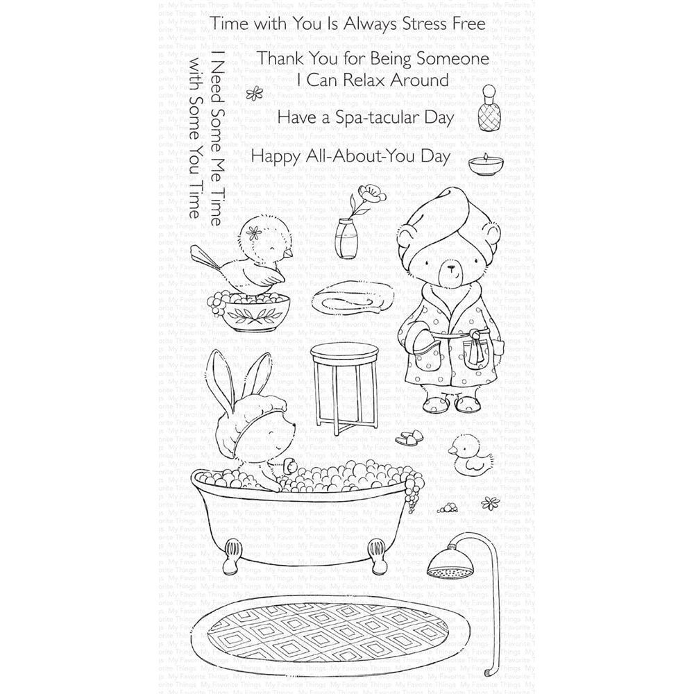 My Favorite Things SPA DAY Clear Stamps sy34 zoom image