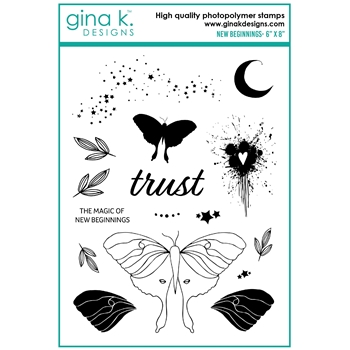 Gina K Designs NEW BEGINNINGS Clear Stamps lh18