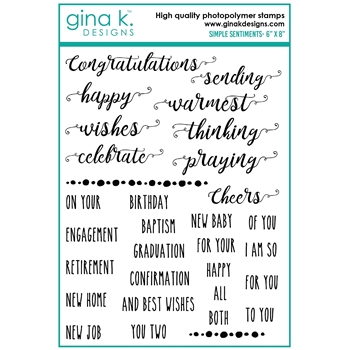 Gina K Designs SIMPLE SENTIMENTS Clear Stamps bs41