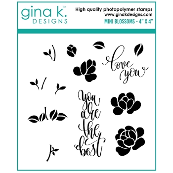 Gina K Designs MINI BLOSSOMS Clear Stamps gkd0106 **