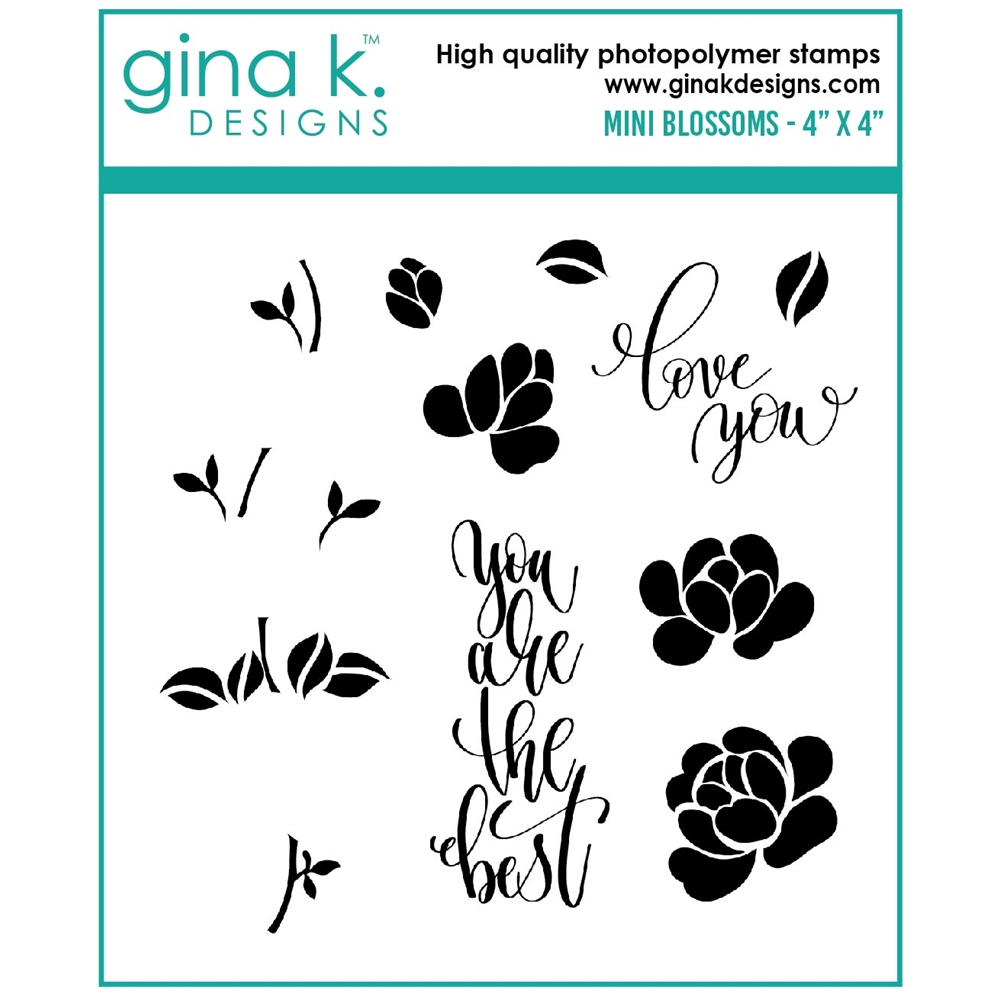 Gina K Designs MINI BLOSSOMS Clear Stamps gkd0106 zoom image