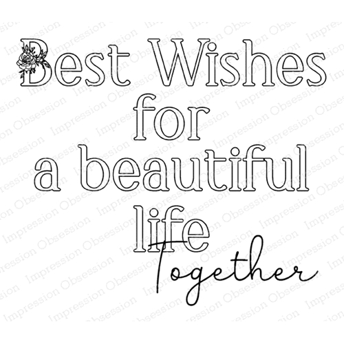 Impression Obsession Cling Stamp LIFE TOGETHER F20935 Preview Image