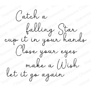 Impression Obsession Cling Stamp CATCH A STAR D20934
