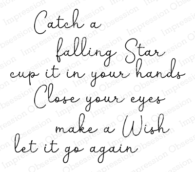Impression Obsession Cling Stamp CATCH A STAR D20934 zoom image