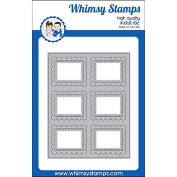 Whimsy Stamps SCALLOP SIX A2 Die WSD545