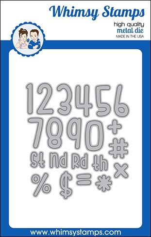 Whimsy Stamps CUTIE NUMBERS Dies WSD544 Preview Image