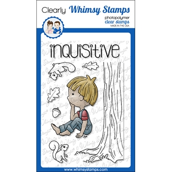 Whimsy Stamps POLKA DOT PALS ZACHARY Clear Stamps BS1028