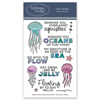 Technique Tuesday JELLYFISH Clear Stamp Set jelly