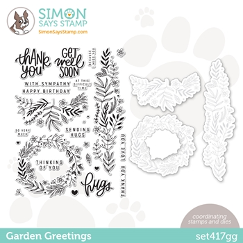 Simon Says Stamps and Dies GARDEN GREETINGS set417gg