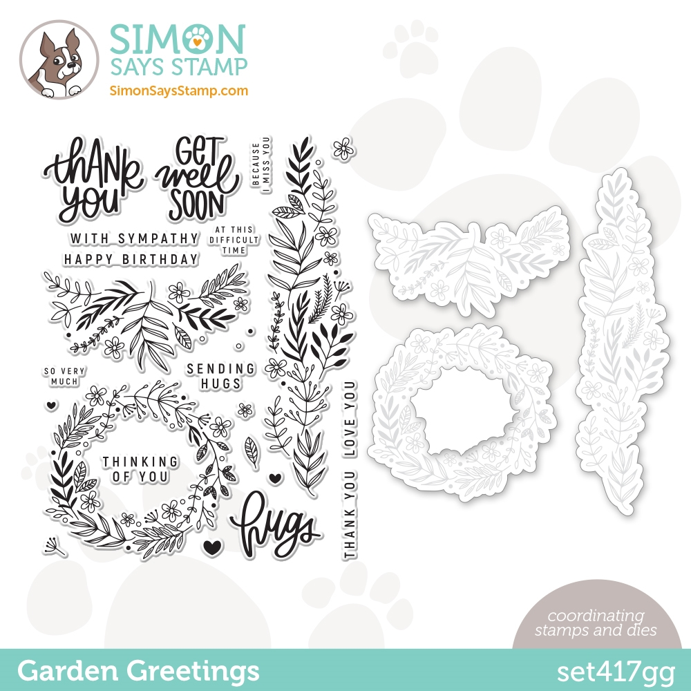 Simon Says Stamps and Dies GARDEN GREETINGS set417gg zoom image
