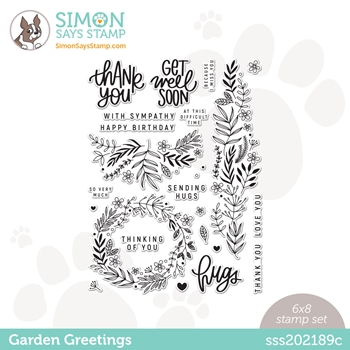 Simon Says Clear Stamps GARDEN GREETINGS sss202189c