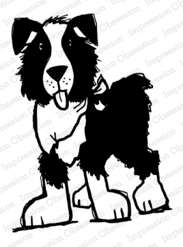 Impression Obsession Cling Stamp STANDING DOG E21391 Preview Image