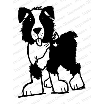 Impression Obsession Cling Stamp STANDING DOG E21391