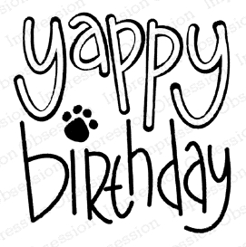 Impression Obsession Cling Stamp YAPPY BIRTHDAY C21385 Preview Image