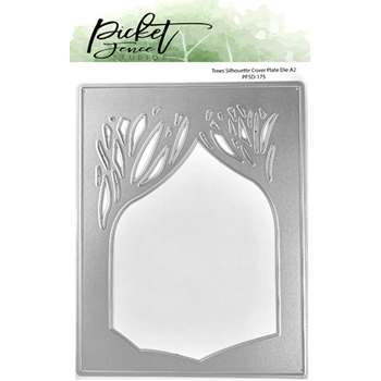 Picket Fence Studios TREES SILHOUETTE COVER PLATE Die pfsd175