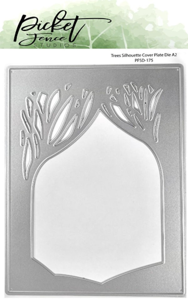 Picket Fence Studios TREES SILHOUETTE COVER PLATE Die pfsd175 zoom image