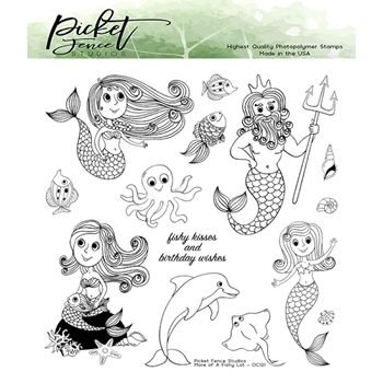 Picket Fence Studios MORE OF A FISHY LOT Clear Stamps oc121
