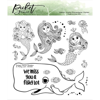 Picket Fence Studios A FISHY LOT Clear Stamps oc120