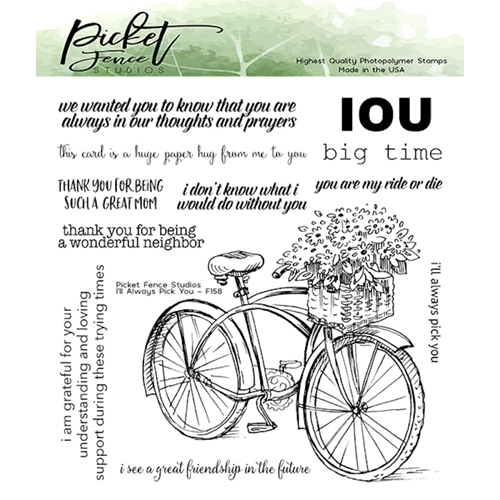 Picket Fence Studios I'LL ALWAYS PICK YOU Clear Stamps f158 Preview Image