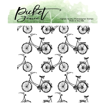 Picket Fence Studios MY BIKE AND I Clear Stamp bb162