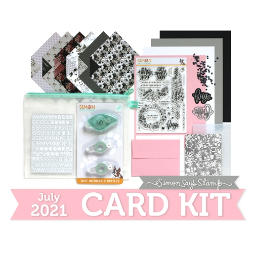 Simon Says Stamp Card Kit of the Month July 2021 GARDEN GREETINGS ck0721