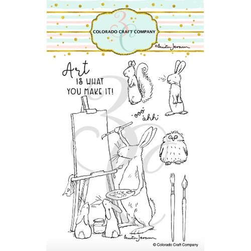 Colorado Craft Company Anita Jeram ART IS Clear Stamps AJ503 Preview Image