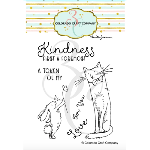 Colorado Craft Company Anita Jeram KINDNESS FIRST Clear Stamps AJ497 Preview Image