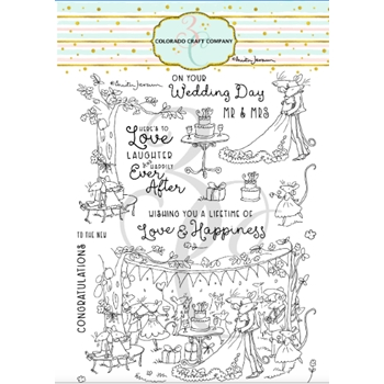 Colorado Craft Company Anita Jeram HAPPILY EVER AFTER Clear Stamps AJ462