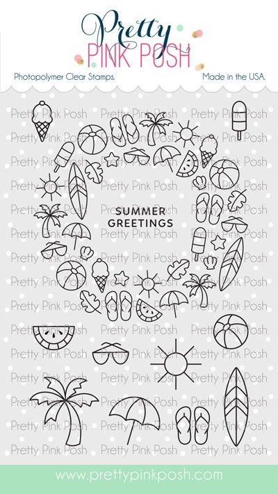 Pretty Pink Posh SUMMER WREATH Clear Stamps zoom image