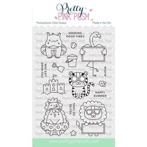 Pretty Pink Posh SUMMER FUN Clear Stamps Preview Image