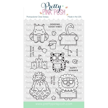 Pretty Pink Posh SUMMER FUN Clear Stamps