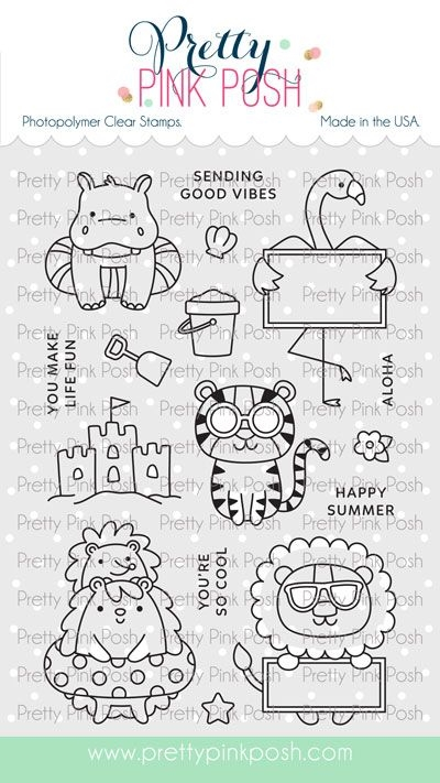 Pretty Pink Posh SUMMER FUN Clear Stamps zoom image