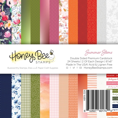 Honey Bee SUMMER STEMS 6 x 6 Paper Pad hbpa024 Preview Image