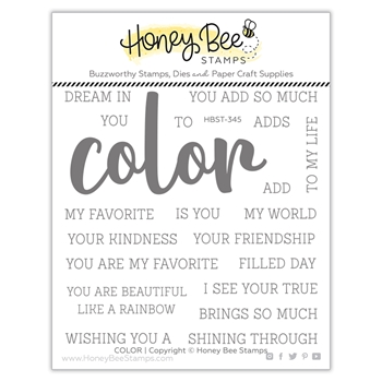 Honey Bee COLOR BUZZWORD Clear Stamp Set hbst345