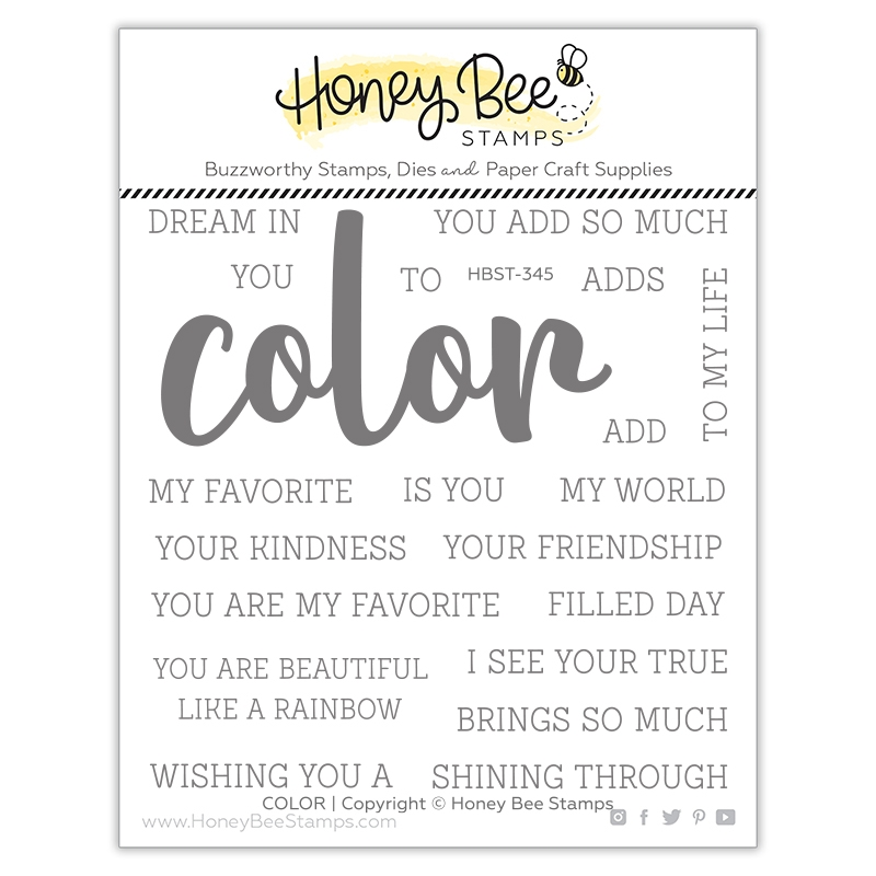 Honey Bee COLOR BUZZWORD Clear Stamp Set hbst345 zoom image