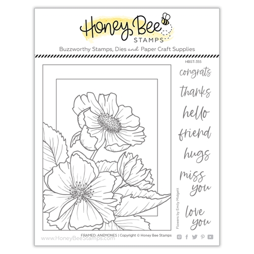 Honey Bee FRAMED ANEMONES Clear Stamp Set hbst355 Preview Image