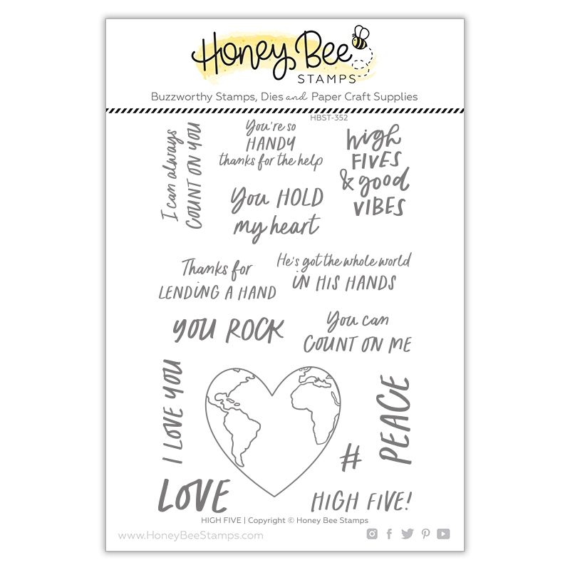 Honey Bee HIGH FIVE Clear Stamp Set hbst352 zoom image