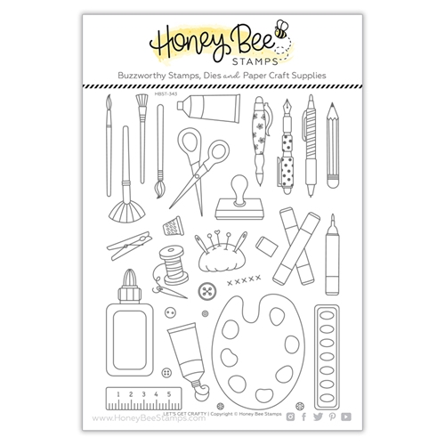 Honey Bee LET'S GET CRAFTY Clear Stamp Set hbst343 Preview Image