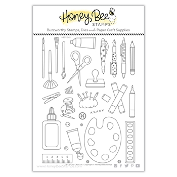 Honey Bee LET'S GET CRAFTY Clear Stamp Set hbst343