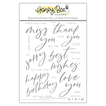 Honey Bee MISS YOU BIG TIME Clear Stamp Set hbst351