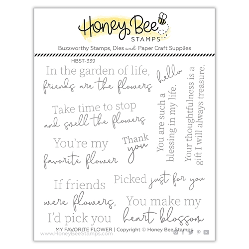 Honey Bee MY FAVORITE FLOWER Clear Stamp Set hbst339 Preview Image