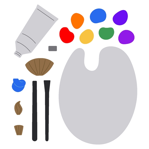 Honey Bee PAINT AND PALETTE Dies hbdsppalt Preview Image