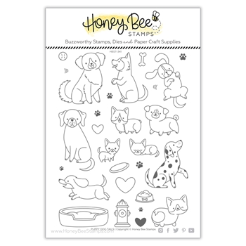 Honey Bee PUPPY DOG TAILS Clear Stamp Set hbst341