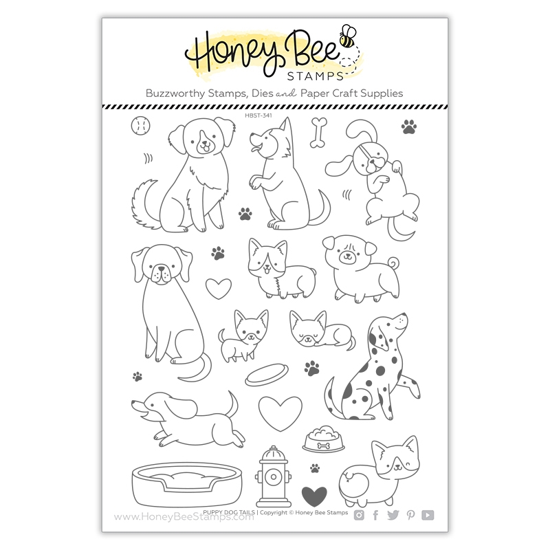 Honey Bee PUPPY DOG TAILS Clear Stamp Set hbst341 zoom image